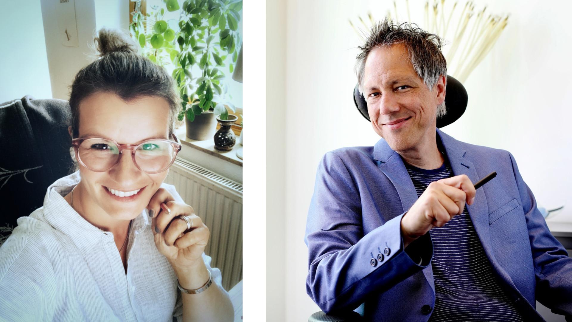 Holger Gerhards und Maria Funk im Gespräch